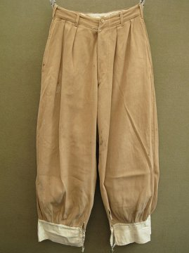 cir.1930-1940's beige cotton jodhpurs