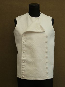 19th c. linen × cotton double breasted gilet