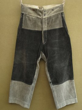 1930-1940's patched cord trousers