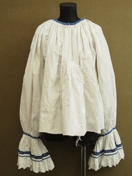 early-mid 20th c. beads embroidered smock