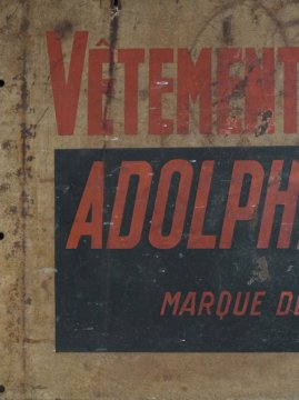 cir. mid 20th c. Adolphe Lafont vitreous enamel sign
