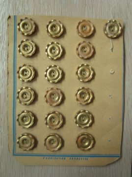 vintage wood button sheet