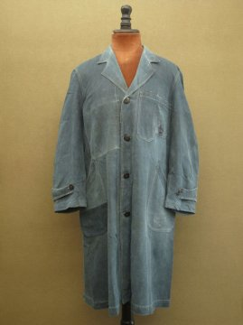 cir.1930's indigo linen maquignon work coat