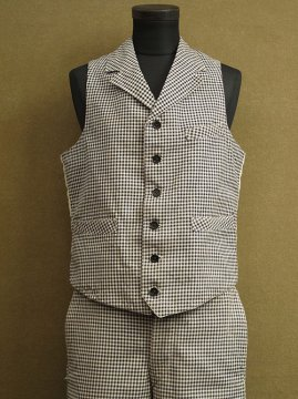 1920-1930's checked gilet & trousers