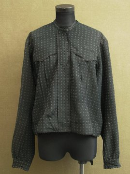 cir. 1920-1940's black wool blouse / jacket