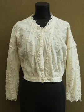 1900-1910's embroidered lace blouse