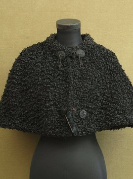 early 20th c. black wool cape
