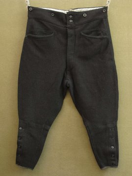 1930 - 1940's brown checked wool jodhpurs