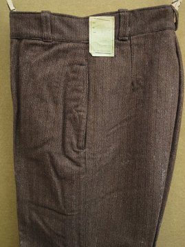 1940's brown striped wool trousers dead stock