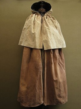 cir. 1930 - 1940's brown canvas shepherd's cape