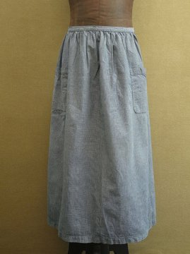 cir.1930's indigo checked apron