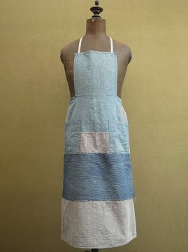 cir. 1930 - 1950's patched indigo apron