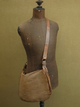 cir. 1930's linen hunting bag