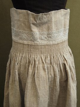 early 20th c. embroidered hemp × linen skirt