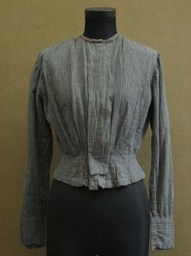 early 20th c. striped gray blouse