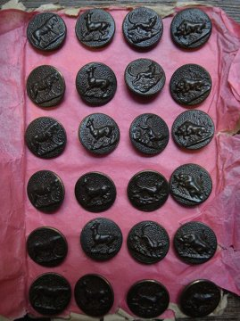 16mm hunting metal button sheet #3