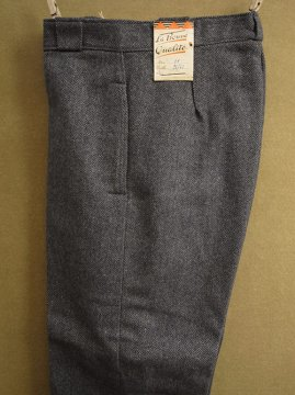 1940's blue gray wool trousers dead stock