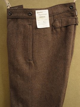 1940's dead stock brown wool trousers