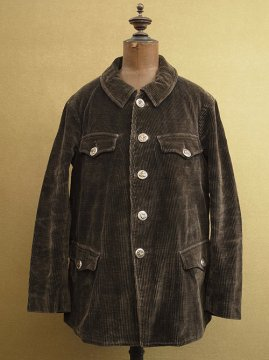 cir.1930's dark brown cord hunting jacket