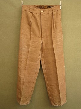 cir. 1940's brown linen overpants