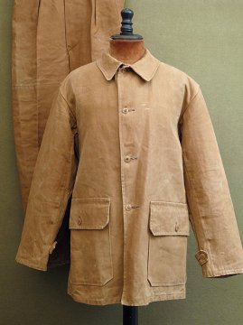 cir. 1940's brown linen work jacket
