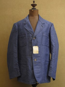 1940's blue moleskin work jacket