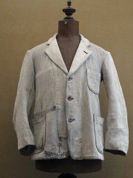 1940's gray striped pique work jacket