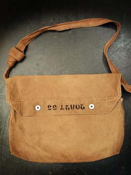 cir.1940-1950's brown cotton musette