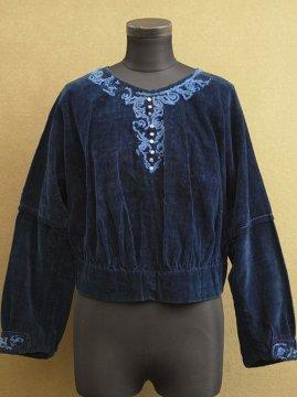 1910's-1920's velvet blouse