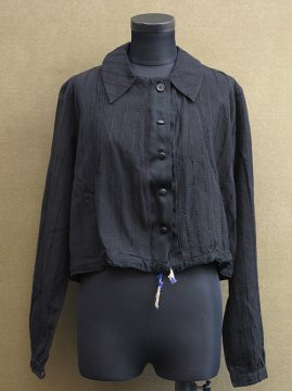 1930's-1940's black blouse