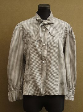 cir.1930's checked silk blouse