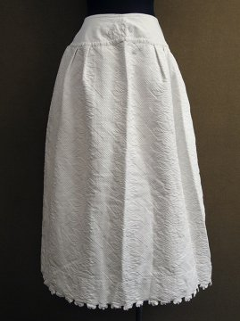 late 19th - early 20th c. white cotton skirt
