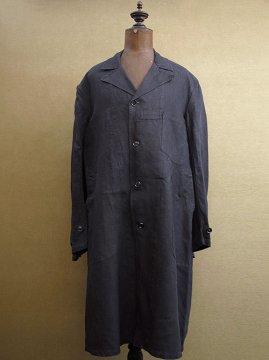 cir. 1940-1950's indigo linen maquignon coat