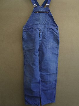mid 20th c. blue moleskin salopette