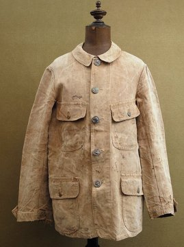 ~1930's brown linen hunting jacket