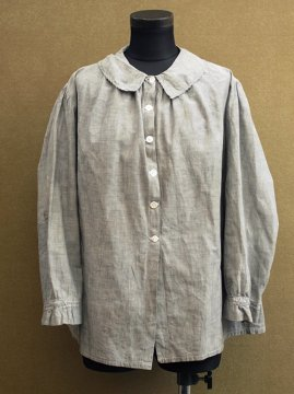 cir.1930's gray cotton blouse