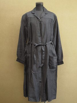1940-1950's printed cotton work coat / dress