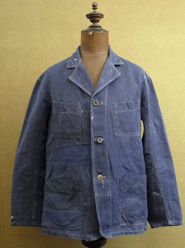 1940-1950's blue linen work jacket