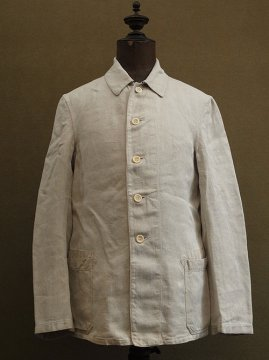 1940's linen herringbone work jacket