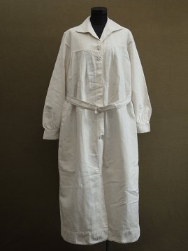 cir. 1930's womens linen work coat