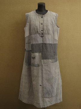 1930-1940's gray work N/SL dress