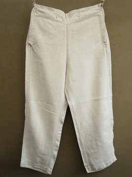 1930's linen sailor trousers
