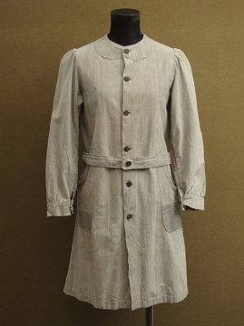 cir. 1930's kids chambray atelier coat / dress