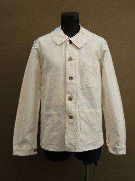1930's-1940's white cotton work jacket