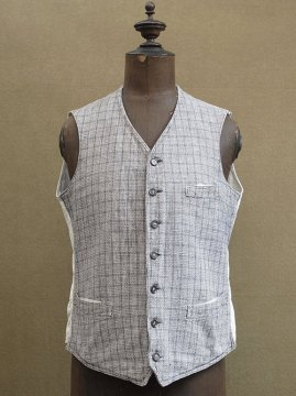 1930's gray checked gilet