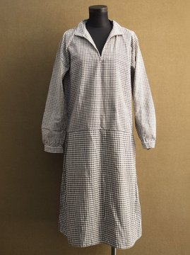 1930's checked cotton work dress