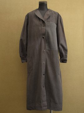 cir.1930-1940's black printed work coat