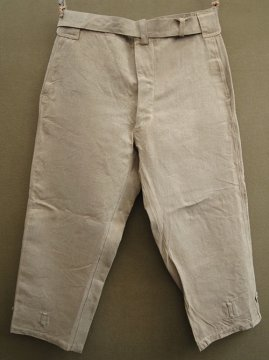 1930-1940's beige linen motorcycle over pants