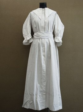 late 19th - early 20th c. printed long dress