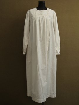 cir. 1930-1940's white cotton work coat / dress
